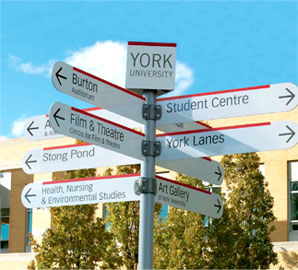 York University Street Signs